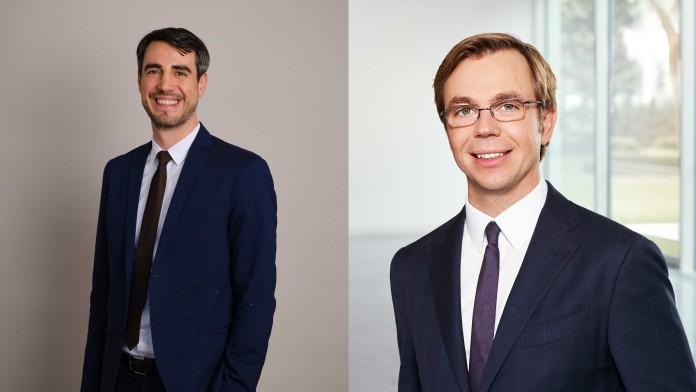 Collage aus Portraits Sebastian Blum und Sebastian Fenk, KfW IPEX-Bank