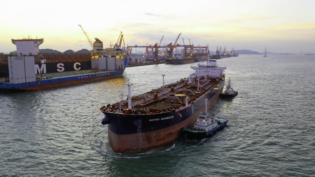 big floating ship
