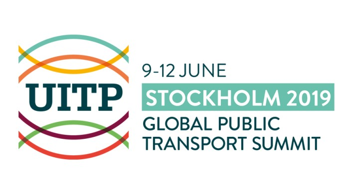 Logo UITP Summit in Stockholm 2019