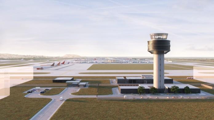 Computeranimation Ansicht Flughafen Lima