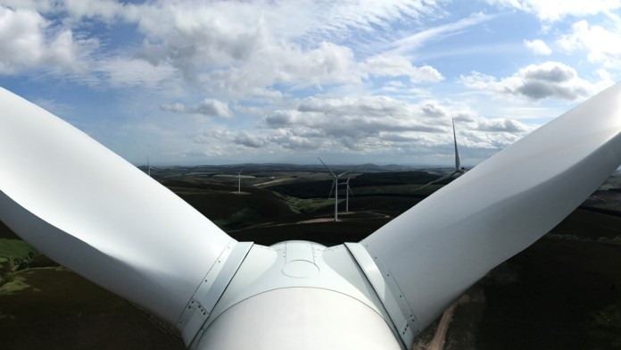 view from the top of a wind mill
