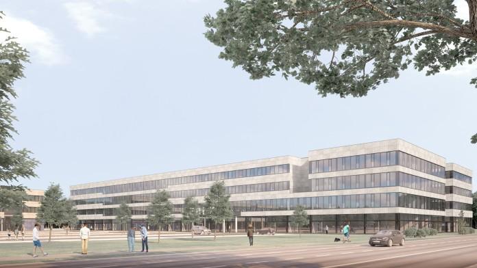 Animation neues Verwaltungsgebäude von Edeka