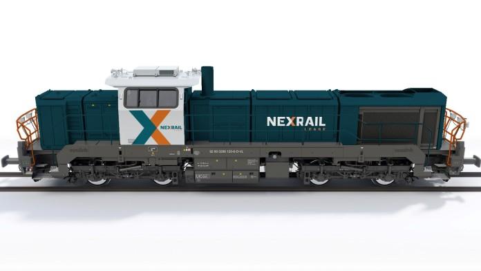 Lokomotive mit Nexrail Design