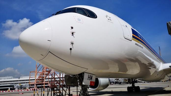 Airbus-Maschine A350-900 von Singapore-Airlines