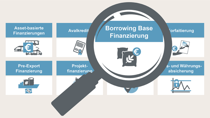 Grafik Borrowing Base Finanzierung KfW IPEX-Bank